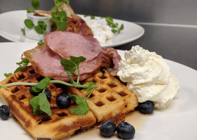 waffle and ham - thom and anns
